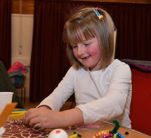 Easter cards, flowers and baskets are just some of the craft skills explored in this fun and interactive family session